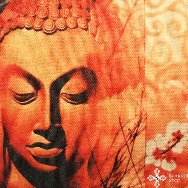 Párnahuzat Buddha ábrázolással