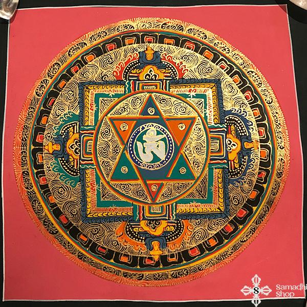 nepáli tibeti buddhista mandala festmény s14268