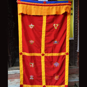 p 7434 red door curtain for web