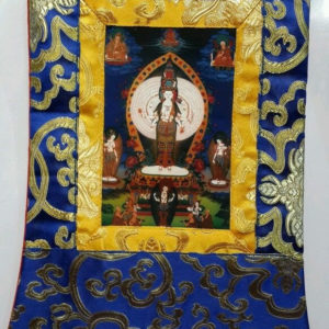 p 7549 Chenrezig 1000 Arm Form Small Thangka 1