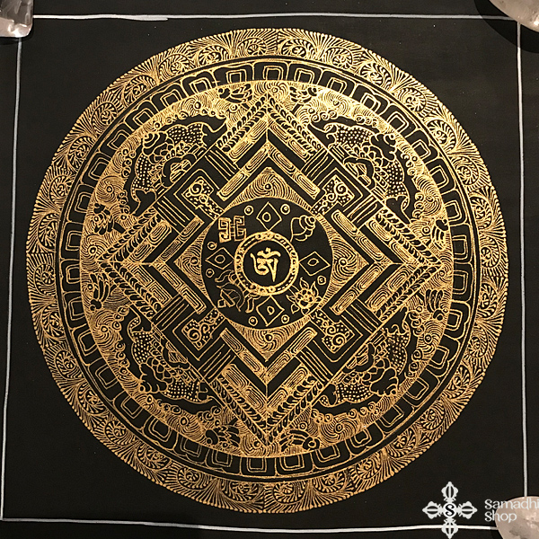 s14274 nepáli tibeti buddhista mandala festmény tibetan buddhist mandala painting