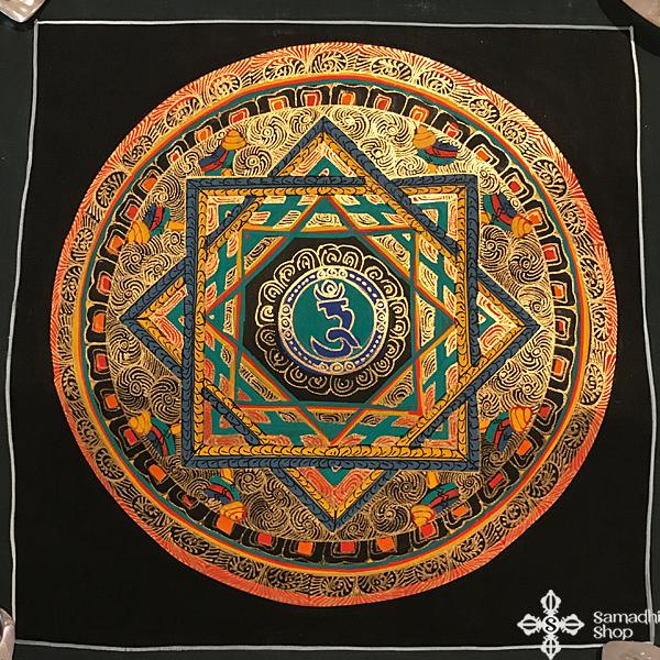 s14276 nepáli tibeti buddhista mandala festmény tibetan buddhist mandala painting